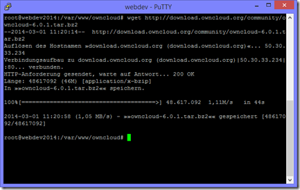Download mit wget