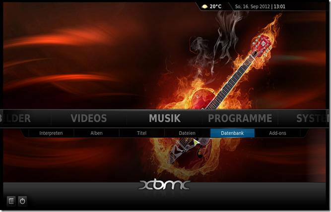 XMBC-Startseite